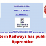 Western Railways has published Apprentice